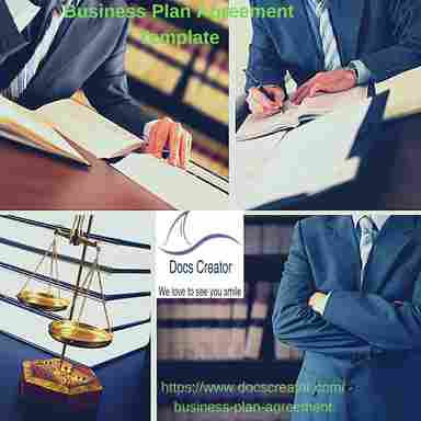 Business Plan Agreement with legal document creator