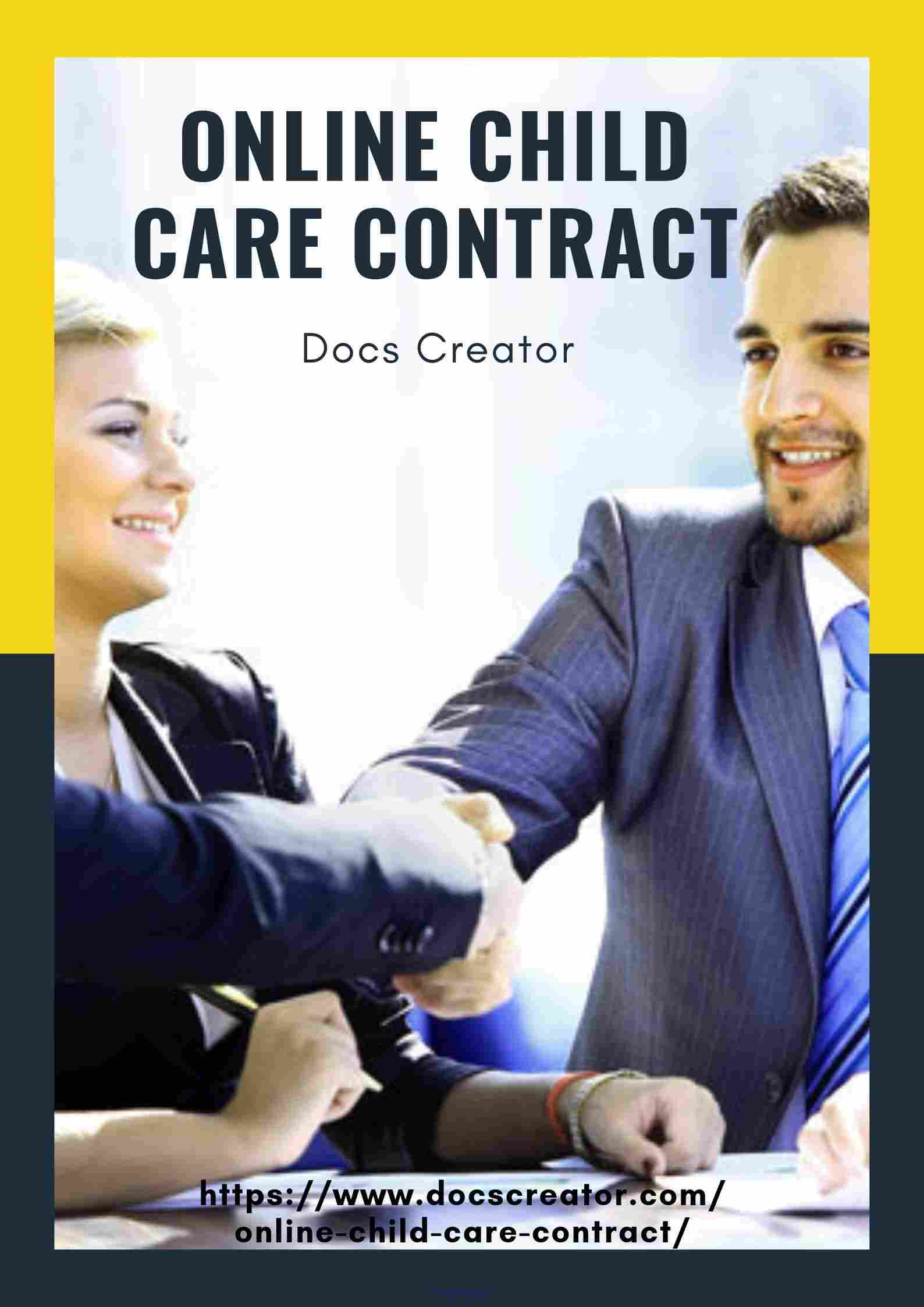 Online Child Care Contract Canada-legal document creator