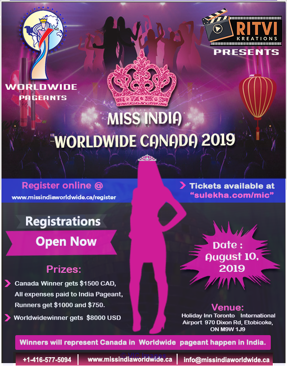 Miss India Registration Open