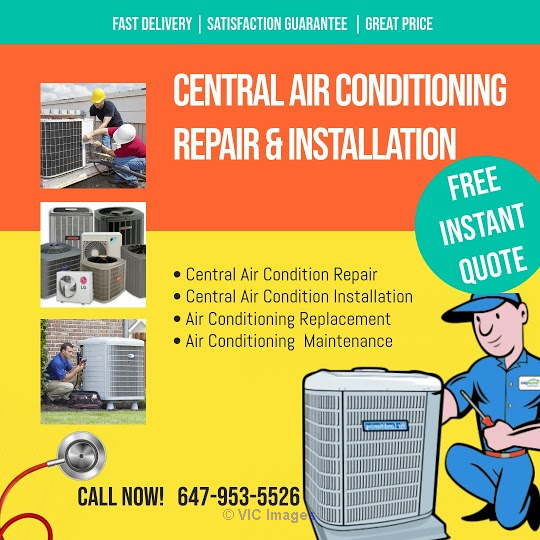 Central Air Conditioning Repair Services in Toronto